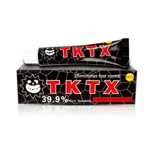 VIP 39.9% Black TKTX Numbing Tattoo Body Anesthetic Fast Numb Cream Semi Permanent Skin Body 10g