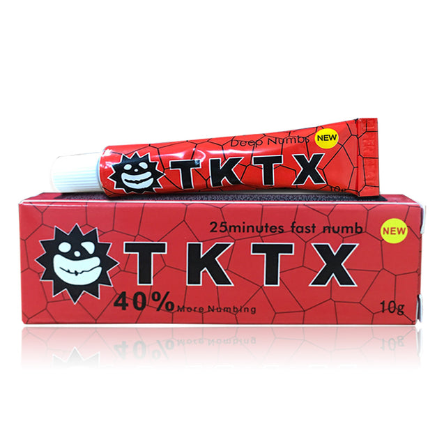 40% Red Australia Stock TKTX Numbing Tattoo Body Anesthetic Fast Numb Cream Semi Permanent Skin Body 10g