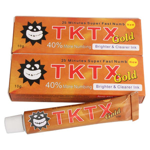 VIP TKTX 40% Gold Numbing Tattoo Body Anesthetic Fast Skin Numb Cream