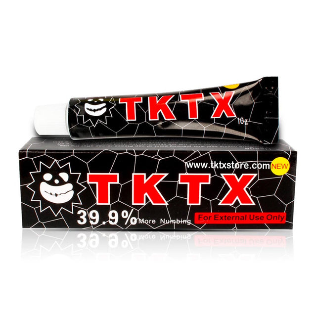 39.9% Black TKTX Numbing Tattoo Body Anesthetic Fast Numb Cream Semi Permanent Skin Body 10g