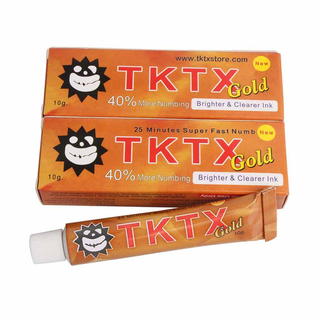 40% Gold TKTX Numbing Tattoo Body Anesthetic Fast Numb Cream Semi Permanent Skin Body 10g