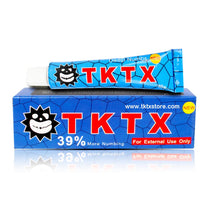 39% TKTX BlueTopical Anesthetic for Tattoos Fast Numb Cream Semi Permanent Skin Body