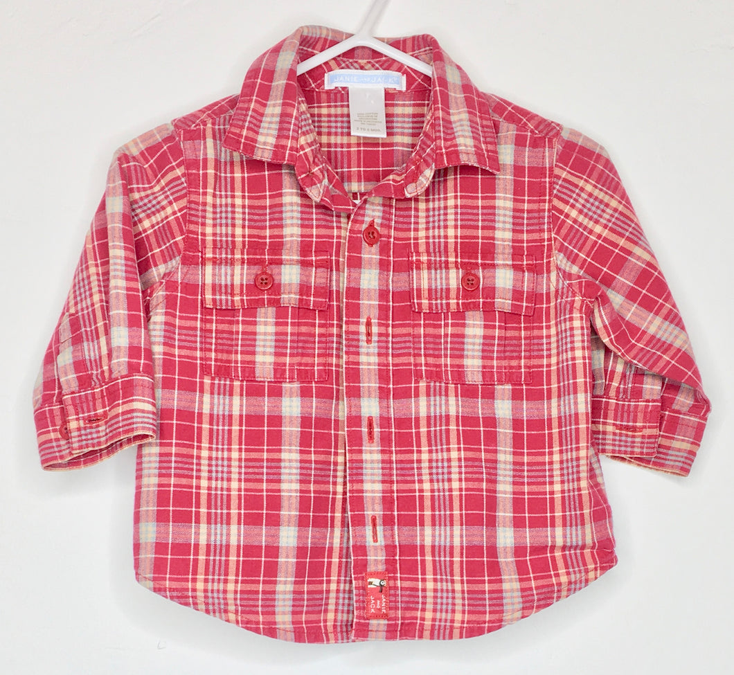 Janie and Jack Plaid Shirt (Gently Loved)
