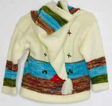 Load image into Gallery viewer, Peruvian Handwoven Cardigan (like new) 3
