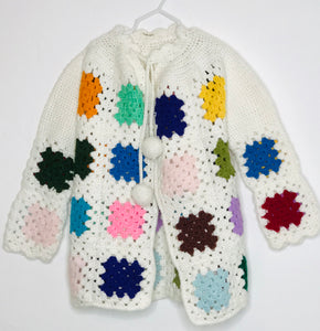 Paula Niner Vintage Patchwork Boho Sweater (gently loved) 8/10