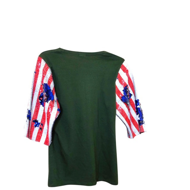 Beatles Stars Stripes Sequin Sleeve Vintage Graphic T Shirts