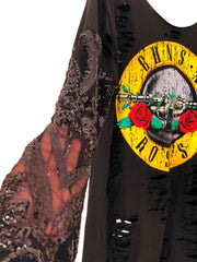 GUNS N ROSES Lace Sequin T Shirt