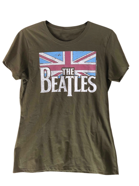 BEATLES Distressed Logo Vintage T Shirt