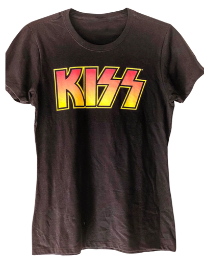 KISS Distressed Logo Vintage T Shirt