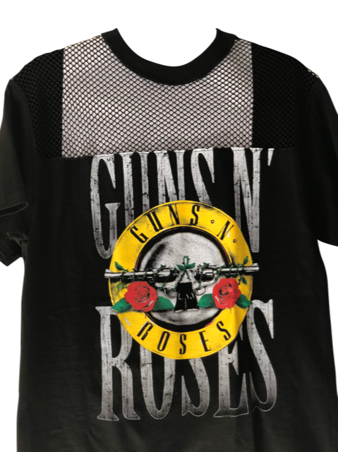 GUNS AND ROSES Vintage Mesh T Shirt Dress