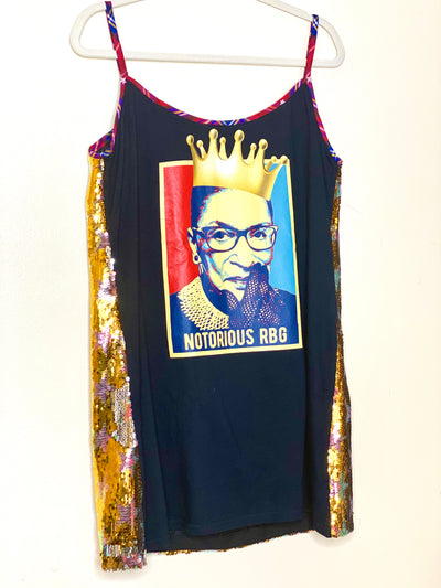NOTORIOUS RBG Two Faced Remix Vintage T Shirt Dress