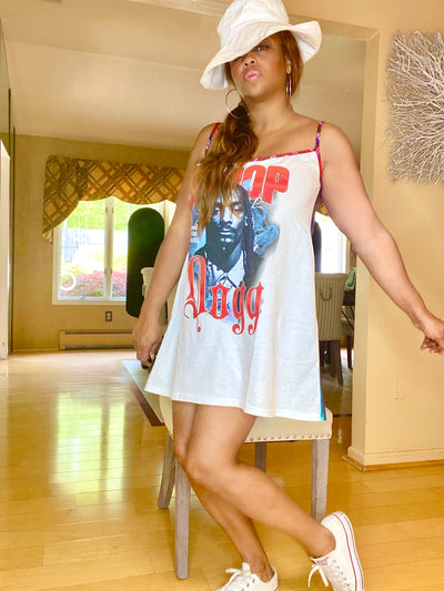 SNOOP DOGG Two Faced Remix Vintage T Shirt Dress