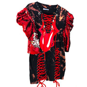 ROLLING STONES Vintage Remix Tie Dye Sequin T Shirt Dress