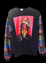 NOTORIOUS BIG BIGGIE Custom Remix Graphic Sweat Shirt