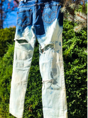 SLOPPY SECONDS Vintage Deconstructed Ombre Denim Jeans