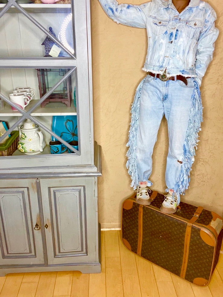 SHAGGY SWAG Vintage Deconstructed Denim Jeans
