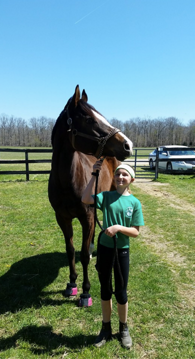 Happy owner of an OTTB from Track To Tranquility