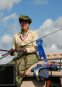 Suzy Stafford, champion combined driver, Horse Tack Co, Horse Quencher