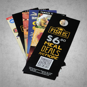 "4.25""X 14"" Die Cut Door Hangers"