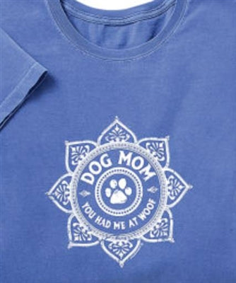 Dog Mom Lotus Womens T-Shirt