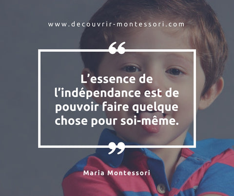 citation maria montessori
