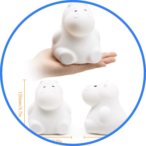 Veilleuse lampe Hippopotame taille