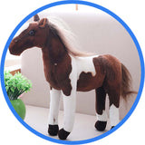 Peluche Cheval : Ferghana, Paint horse, Poney Hucul, l'Appaloosa robe tachée