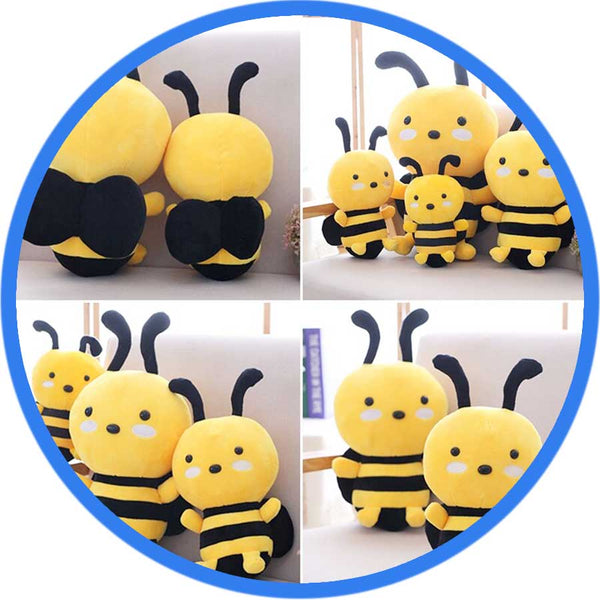 Peluche Abeille debout Kawaii Cartoon 4 séries