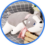 Peluche Chien Husky Kawaii Cartoon gris