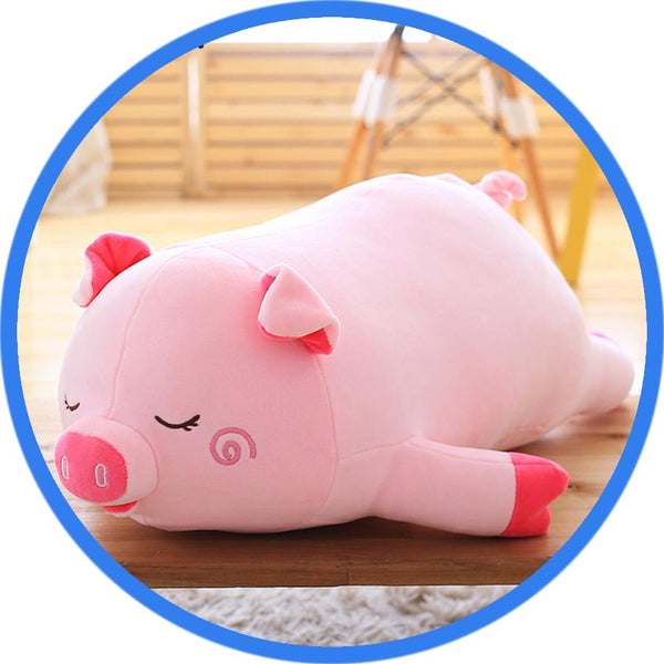 Peluche Cochon Kawaii Cartoon endormie