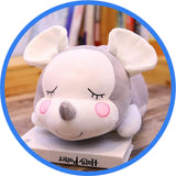 Peluche Souris Endormie Cartoon Kawaii gris
