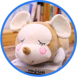 Peluche Souris Endormie Cartoon Kawaii marron