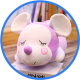 Peluche Souris Endormie Cartoon Kawaii pourpre
