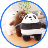 Lot de 3 Peluches Poupées : Grizzly Panda