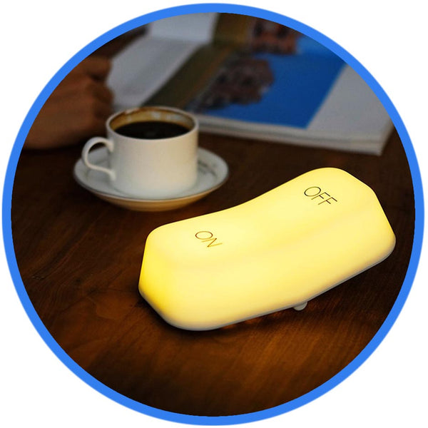 Veilleuse lampe interrupteur bouton ON OFF sut table café