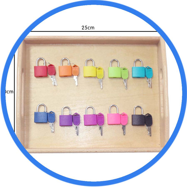 Montessori Education Ensemble de Cadenas 10 cadenas plein de couleurs