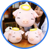 Peluche Cochon Ange Kawaii Cartoon 3 cochons 2 tailles
