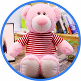 Peluche Ours teddy sympathique rose