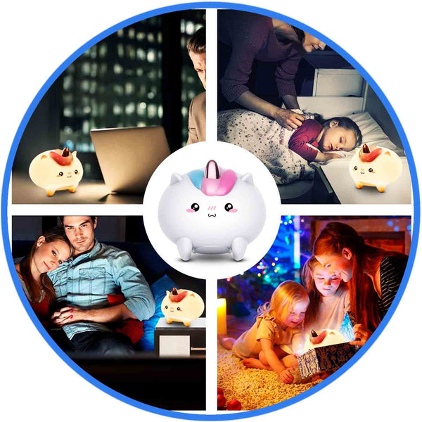 Veilleuse lampe Licorne ambiance