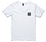 Mens - V- Neck Vote Tony Out Square Logo