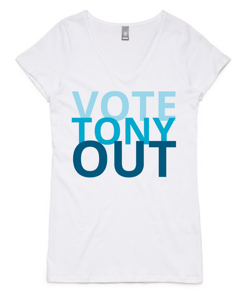 Women's - Vote Tony Out - V-Neck