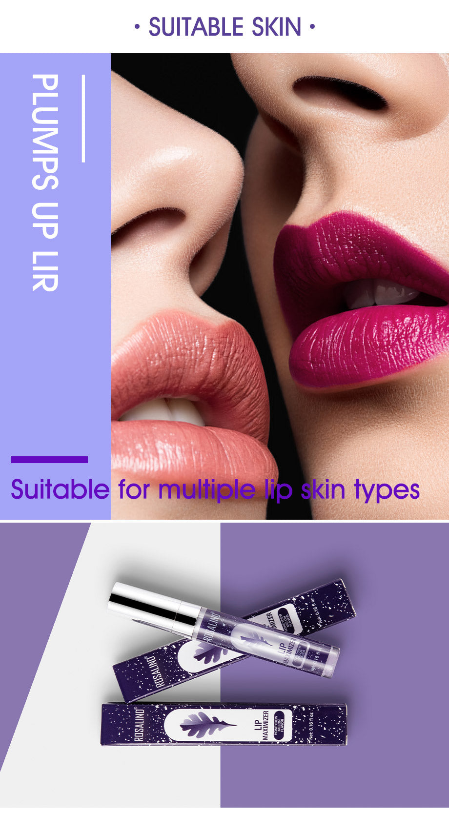 Lip Plumper Glamorous and Bright Soft & Smooth