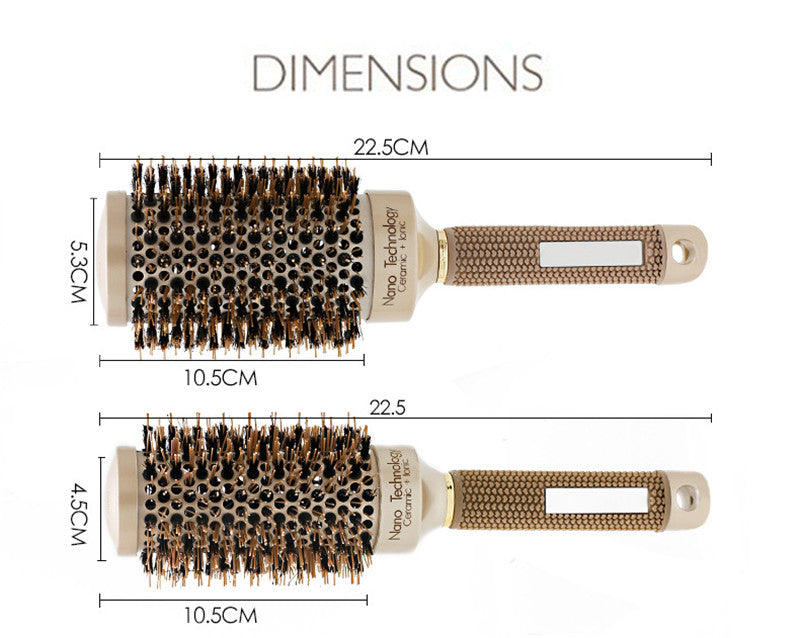 Salon Styling Round Hair Comb for Hairdressing&Curling