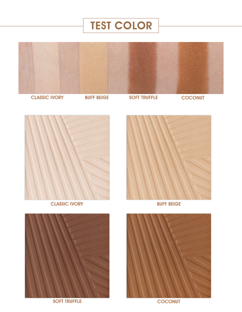 4 Colors Powder Foundation Palette Oil Control