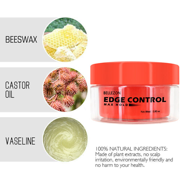 3 Colors Edge Control Cream for Hair Styling Broken Hair