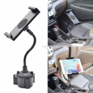 2 in 1 Tablet & Smartphone Car Cup Holder Mount with Longer Flexible Neck (12 Inches) for Apple iPad Pro 10.5/Air/Mini, Samsung Galaxy Tab, iPhone X, Xs,8,8 Plus, 7, 7 Plus & Any Device at least 8