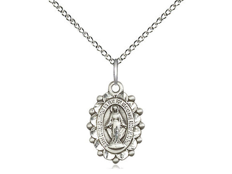 Miraculous Medal Catholic Sterling Silver