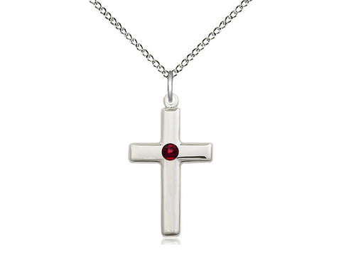 Birthstone Cross with Swarovski Crystal