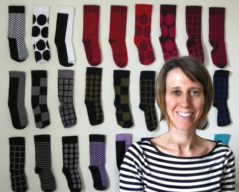 Kate T. Williamson, designer and owner of THIS NIGHT, cotton socks made in USA and inspired by Japan