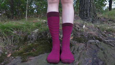 MADE IN USA men's & women's cotton socks by THIS NIGHT – M/L and S/M size comparison